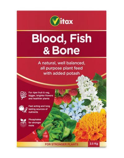Vitax Blood Fish & Bone Plant Fertiliser 2.5KG