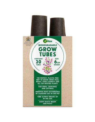 Vitax Biodegradable Grow Tubes 6cm x 20 Tubes