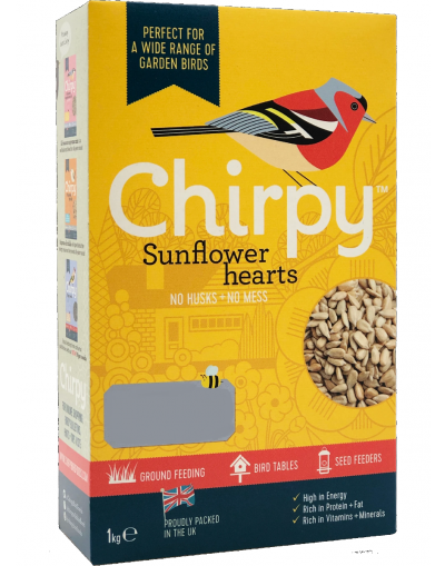 Chirpy Birds Foods Sunflower Hearts 1KG Carton