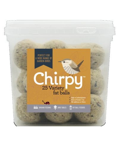 Chirpy Bird Foods Variety Fat Balls 25 Tub