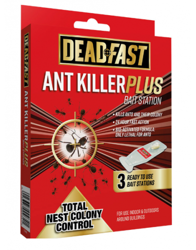 Deadfast Ant Killer Plus Bait Station Ready To Use 3 Pack