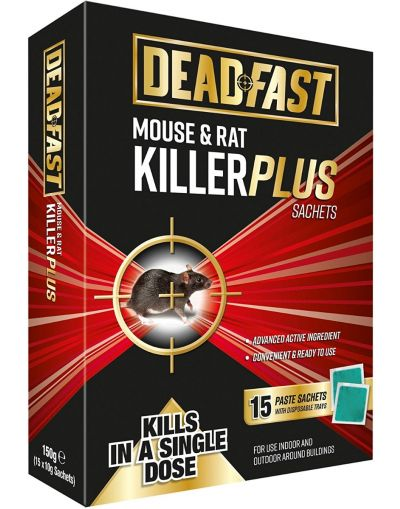 Deadfast Mouse & Rat Killer Plus 15 Sachets