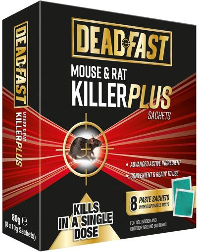 Deadfast Mouse & Rat Killer Plus 8 Sachets