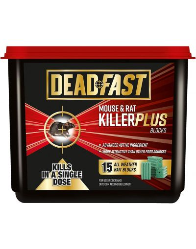 Deadfast Mouse & Rat Killer Plus Blocks 15 Tub