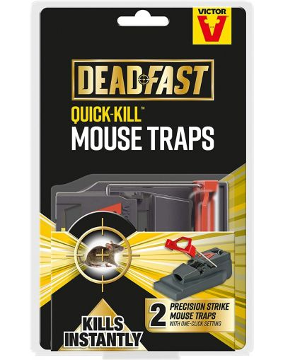 Deadfast Quick-Kill Mouse Trap Twin Pack