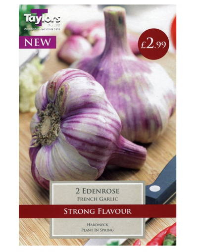Taylors Bulbs French Garlic Eden Rose 2 Bulbs Pre-Pack