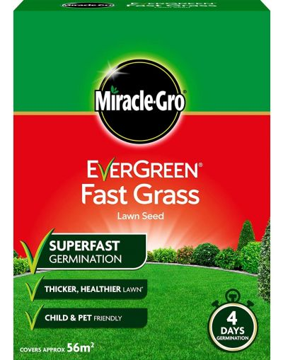 Miracle-Gro EverGreen Fast Grass Lawn Seed 1.6KG 56m2