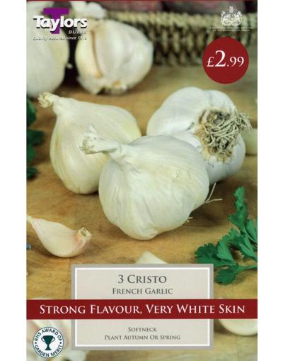 Taylors Bulbs French Garlic Cristo 2 Bulbs Pre-Pack