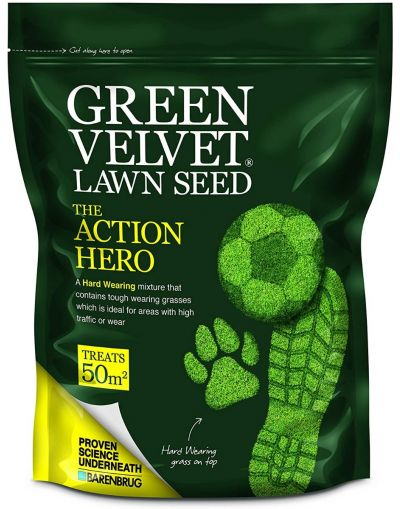 Barenbrug Green Velvet The Action Hero Lawn Seed 1.5KG