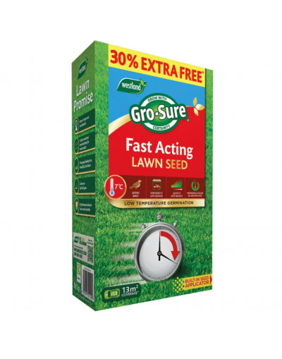 Westland Horticulture Gro-Sure Fast Acting Lawn Seed 30m2