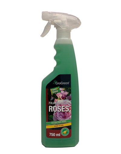 GroGreen Feed & Shine Rose Foliar Fertiliser Ready To Use Spray 750ML