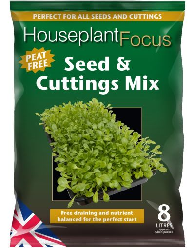 Growth Technology Peat-Free Houseplant Focus Seed & Cuttings Mix 8L