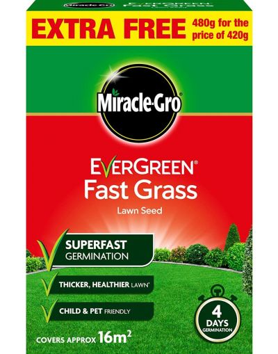 Miracle-Gro Evergreen Fast Grass Lawn Seed 480G