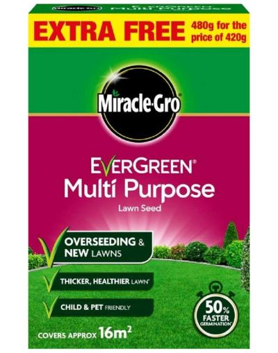 Miracle-Gro Evergreen Multi Purpose Lawn Seed 480G