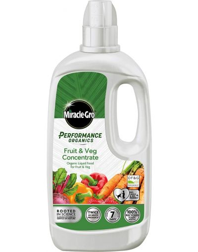 Miracle-Gro Performance Organics Fruit & Veg Plant Food Concentrate 1L
