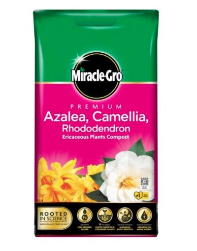 Miracle-Gro Premium Azalea, Camellia & Rhododendron Ericaceous Compost 10L Bag