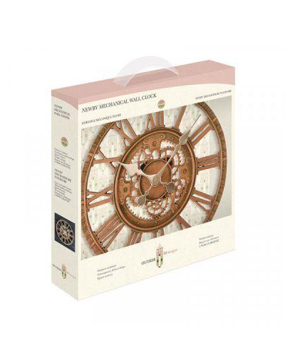 """Smart Garden Newby Mechanical Wall Clock Bronze 12"""""""
