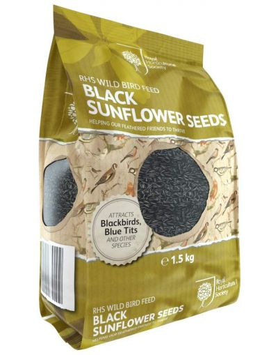 RHS Wild Bird Black Sunflower Seeds 1.5KG
