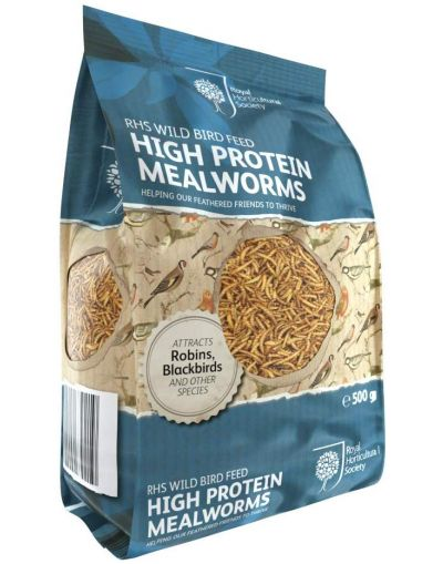 RHS Wild Bird High Protein Mealworms 500G