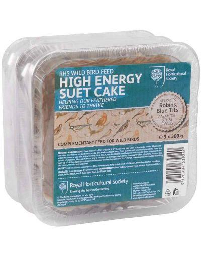 RHS Wild Bird High Energy Suet Cake 3 Pack