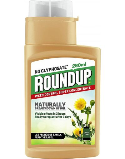 Roundup Naturals Glyphosate-Free Weedkiller Concentrate 280ML