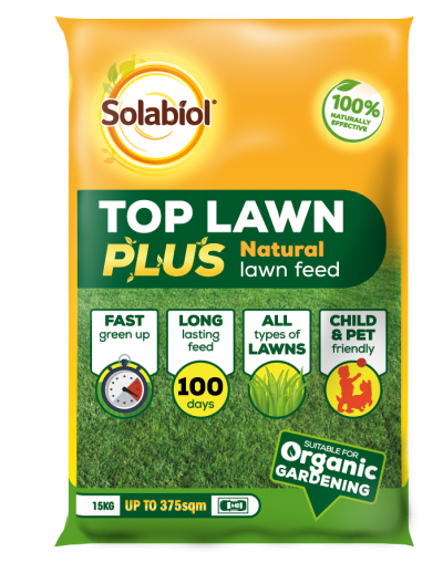 SBM Life Science Solabiol TopLawn Plus Natural Lawn Feed 375m2 Bag