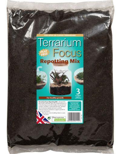 Growth Technology Peat-Free Terrarium Focus Repotting Mix 3L