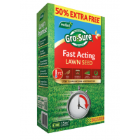 Gro-Sure Fast Acting Lawn Seed 15m² (INC 50% Extra Free)